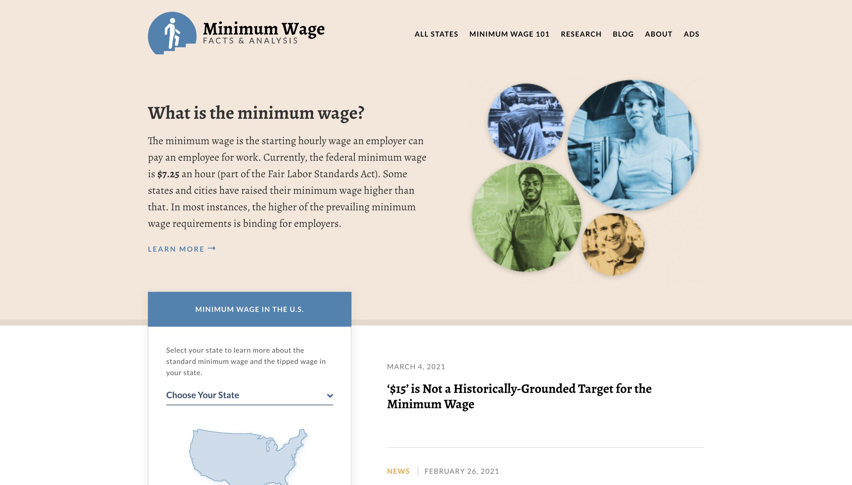 MinimumWage.com Screenshot
