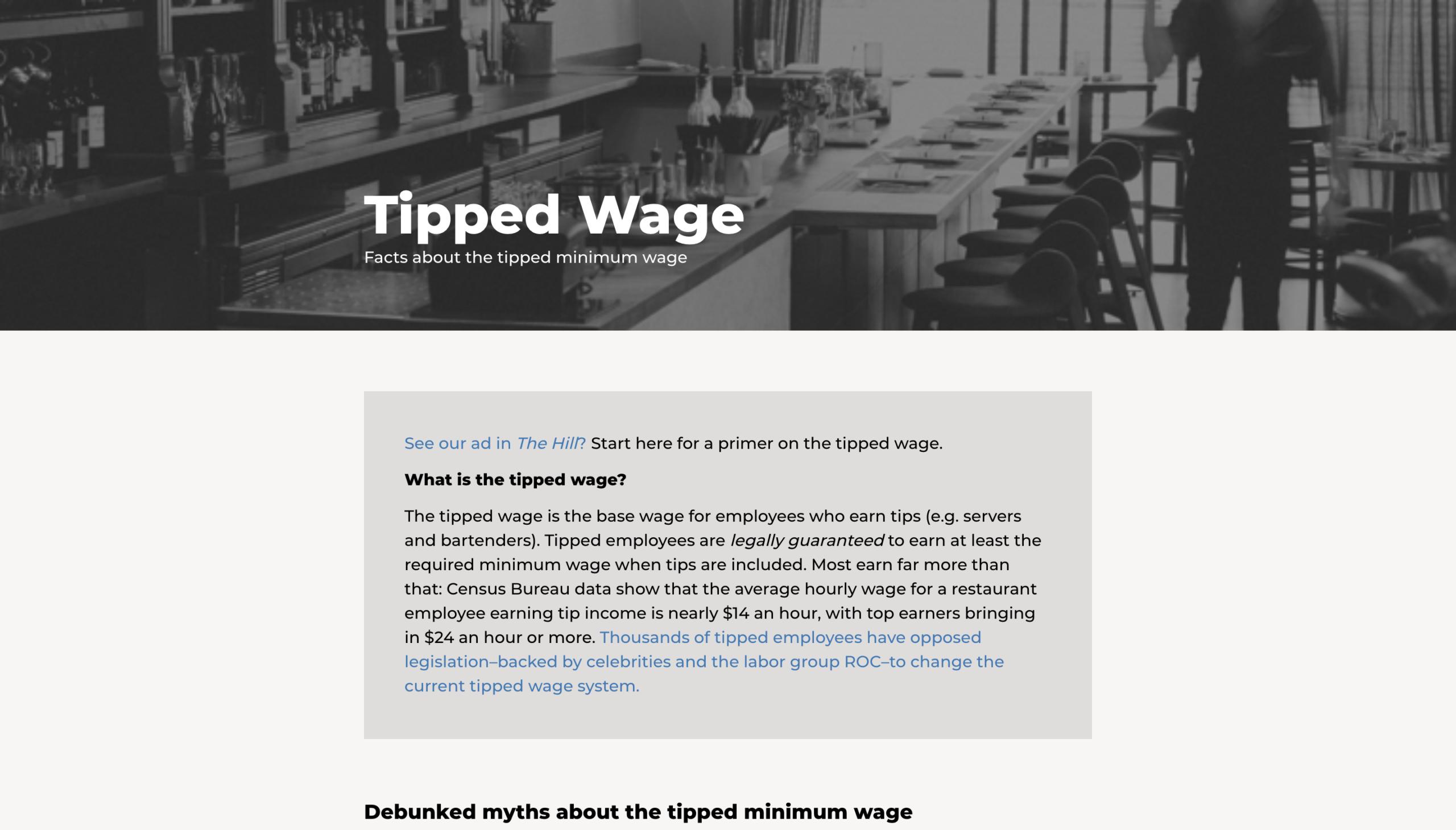 TippedWage.com Image
